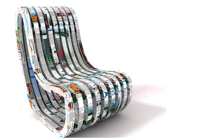 Chaise en papier maché