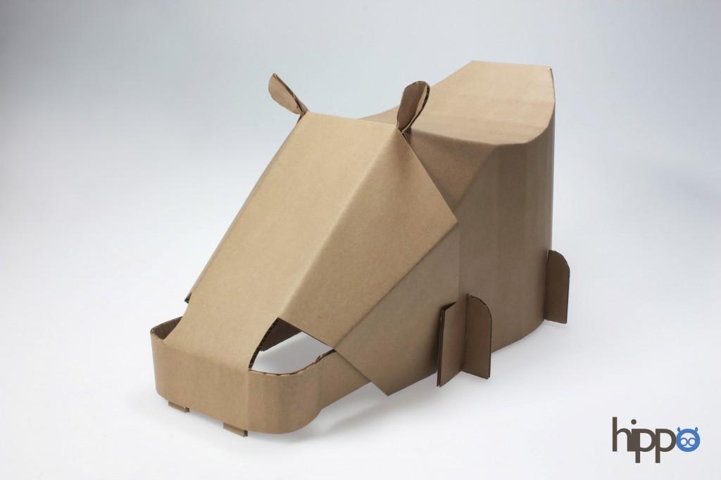 chaise en carton pour enfant - proposition hippo