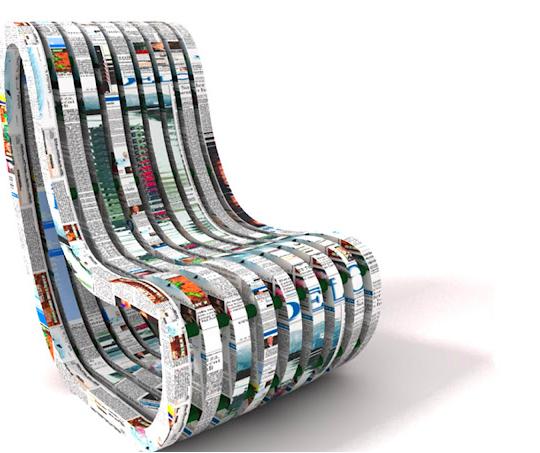 Recycle Rechair - Chaise en papier maché
