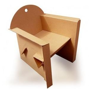 Fauteuil en carton recyclé