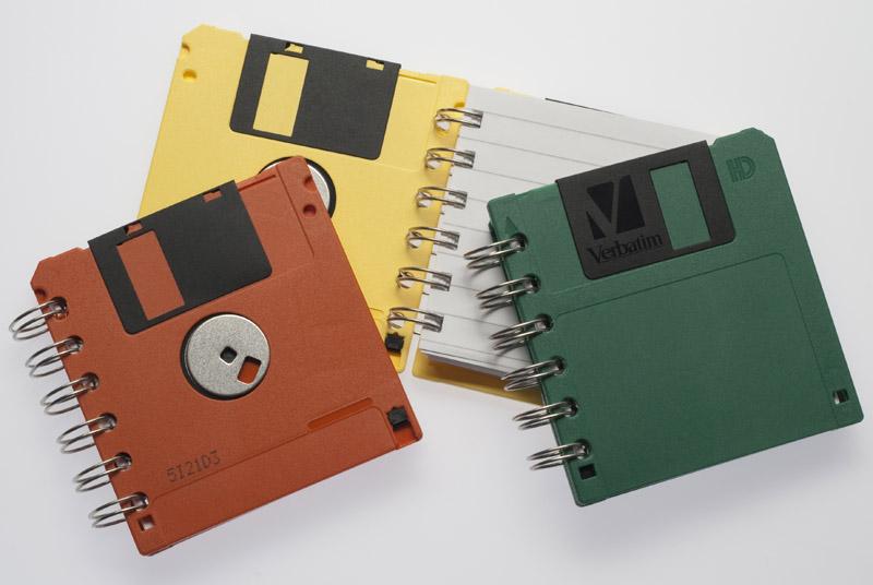 Carnet de notes à partir de vieilles disquettes par T.D.M.