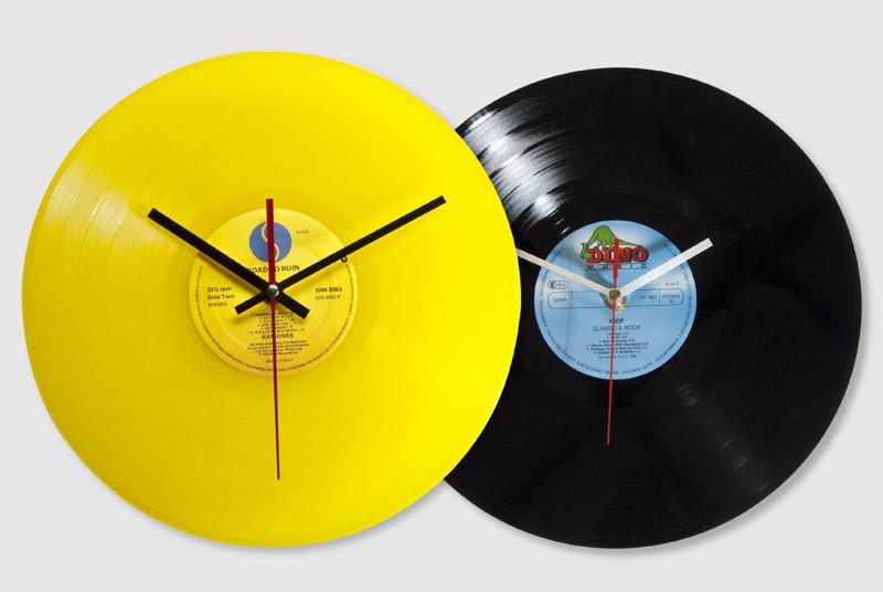 Horloges murales à partir de vieux vinyles par T.D.M.