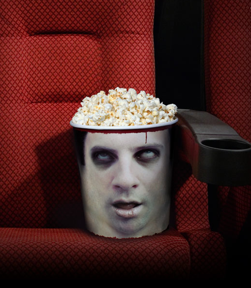 seau pop corn tete zombie Des seaux de pop corn  partir de ttes de zombies recycles
