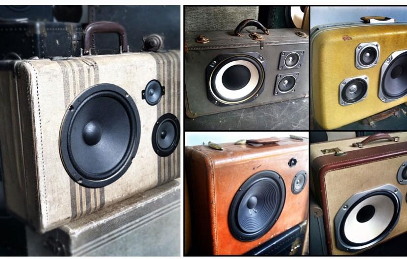 BoomBox —hauts-parleurs fabriqués à partir de vieilles valises