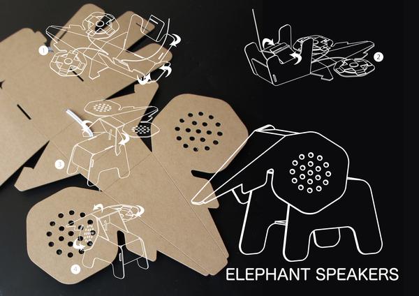 kit-elephant-hautparleurs-en-carton-recycle