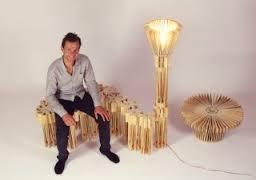 design recyclé : ensemble de meubles à partir de caisses de fruits recyclées