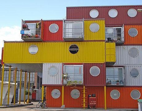 containers recyclés en habitat à Londres