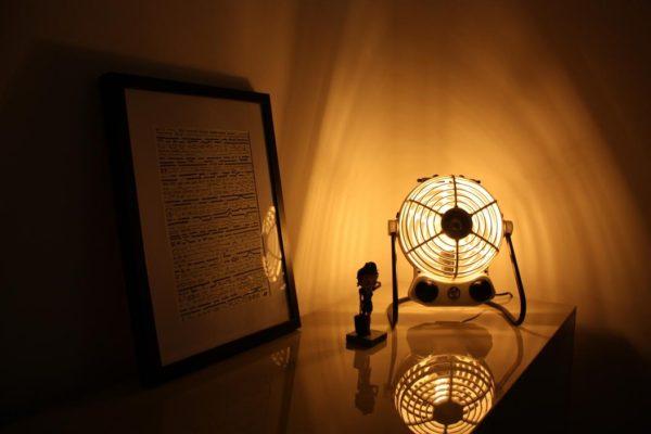 Lampe design recyclée à partir d'un radiateur vintage par ArtJL